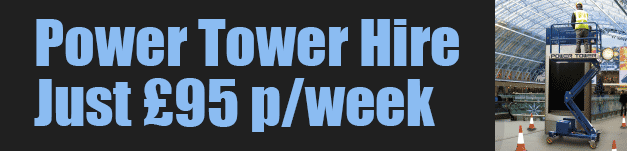 Power tower hire